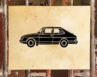 KillerBeeMoto: Limited Print Vintage Scandinavian Car 1 of 100 Prints