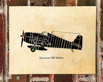 KillerBeeMoto: Limited Print Grumman F6F Hellcat Carrier Based Fighter Aircraft 1 of 50