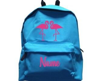 Kids Flamingo Personalised Rucksack