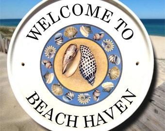 Beach Welcome Sign, Beach Signs, Beach Wall Decor, Beach House Signs, Hanging Address Sign, Personalized Beach House Signs, Coastal Signs