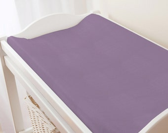 Carousel Designs Solid Aubergine Purple Changing Pad Cover
