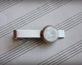 Recycled Saxophone Key Tie Clip