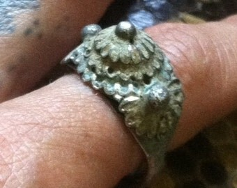 Antique tribal silver ring