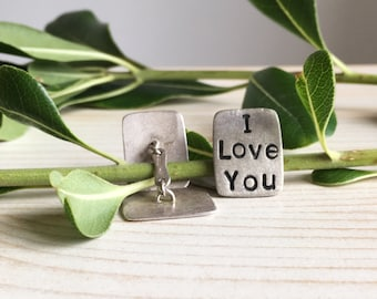 handmade cufflinks - sterling silver cufflinks - customizable cufflinks