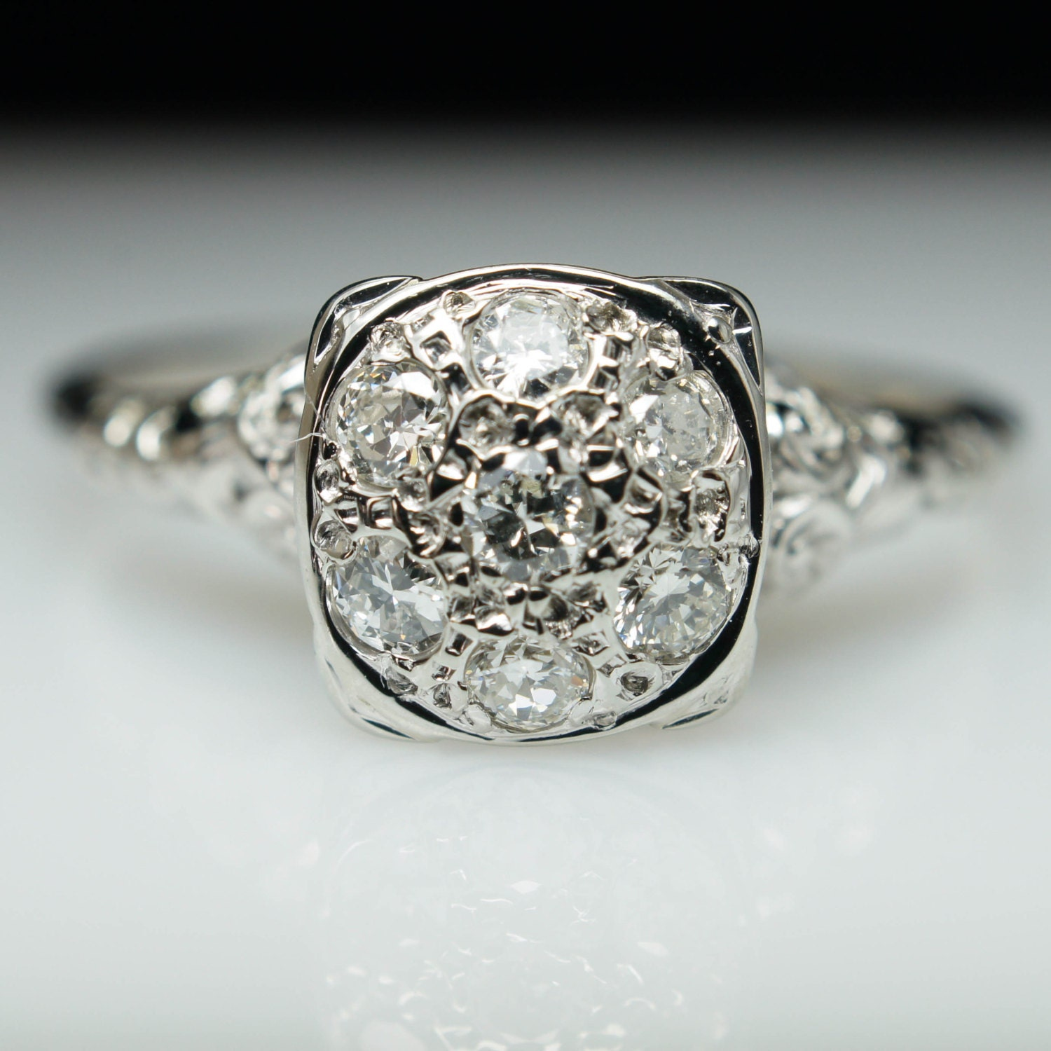 RESERVED Antique Diamond Ring Antique Engagement Ring Art
