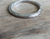Reserved Payment 3/3 1934 vintage platinum band wheat detailing