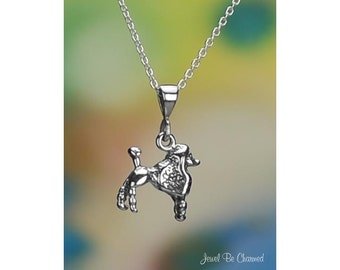 Sterling Silver Toy Mini or Standard Poodle Necklace or Pendant Only