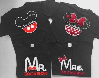 Disney Couple shirts, Disney Mr and Mrs Shirt, Disney Mr Mrs shirts, Matching Disney Couples shirt, Disney Honeymoon shirts date jm9987