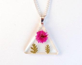 Resin Jewelry Fuchsia Flower