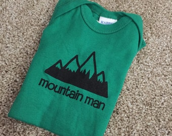 Mountain Man Baby Onesie Bodysuit 12 MONTHS