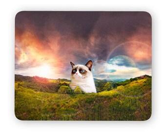 Grumpy cat - funny desk mouse pad, meme mouse pad, comptuer mouse pad, desk accessory mouse mat 3P003A