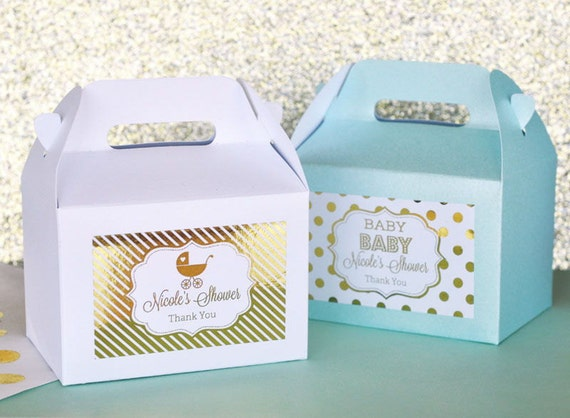 personalized baby shower favors baby shower favor container mini gable