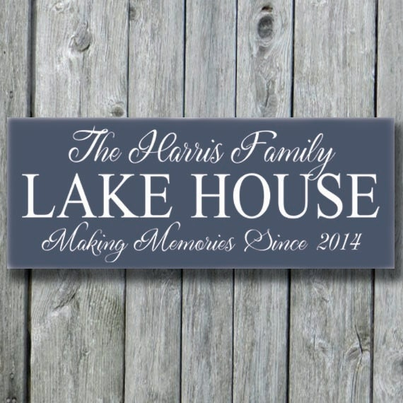 Lake House Decor Signs Personalized Lake House Family Name