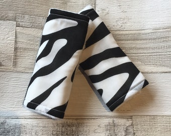 Zebra Car Seat Strap Cover