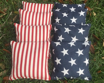 Cornhole Bags, Patriotic, Stars and Stripes