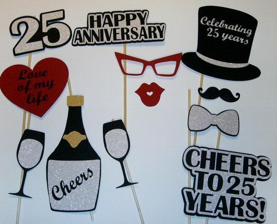 25 Year Wedding Anniversary Gift Ideas For Parents: 25th Anniversary Photo Prop / Silver Anniversary/ Cheers
