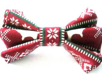 Christmas dog bow tie Dog collar bow tie
