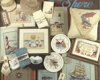 """The OminiBook:  """"At The Shore"""" Cross Stitch Book"""