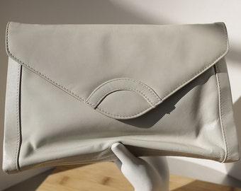 Vintage Cristina Light Grey Faux Leather Purse