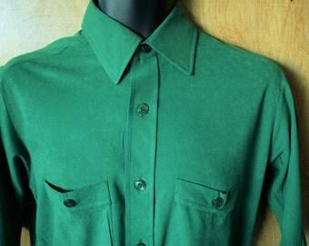 Men's Vintage Ultra-Suede Short Sleeve Dress Shirt