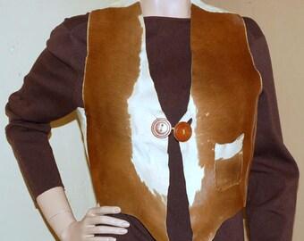 Vintage Cowhide Vest