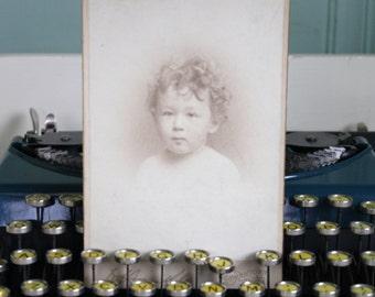 Antique Cabinet Card Photo CDV Sepia Identified Baby Boy Lee K Frankel Jr 1900