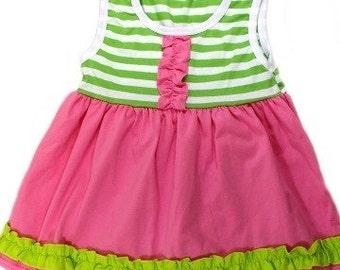 Rainbow Tank Dress - summer dress - sun dress - beach dress