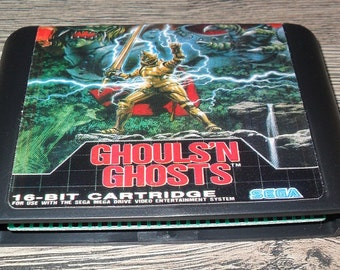 Juego Megadrive Mega Drive Genesis: Ghouls'n Ghosts (Ghost's and Goblins) Customized