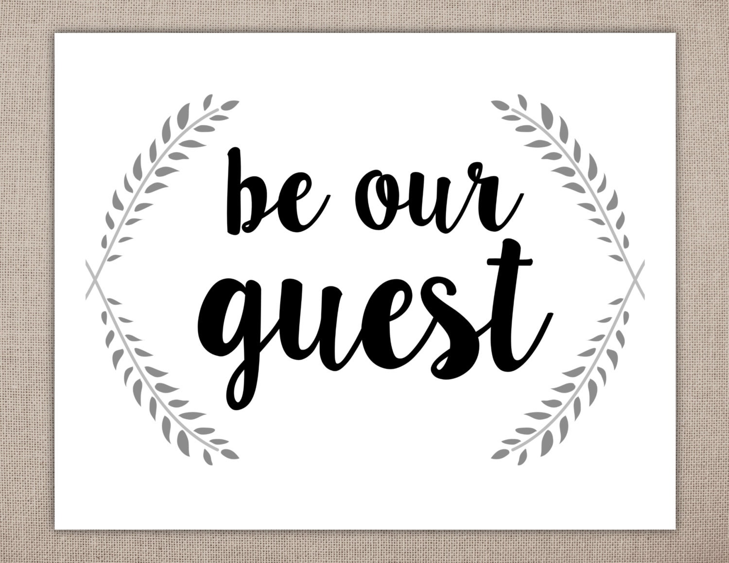 Canny image for be our guest printable