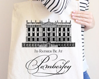 1 Jane Austen Tote Bag - Pride and Prejudice - 15x16