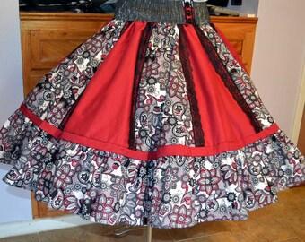 Square Dance Skirt.Ladies Plus size