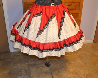 Square Dance Skirt Ladies Plus size