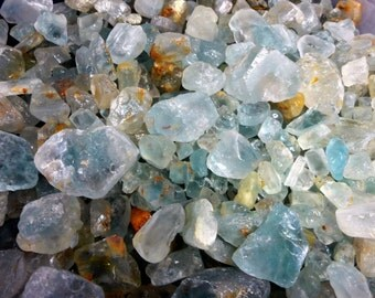 NATURAL BLUE TOPAZ Rough Crystals & Stones By The Pound Wholesale Rough Gemstones