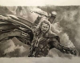 Thor. Charcoal original.