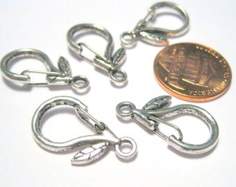 5pcs Antique Silver Lobster Claw Clasps Snap Hooks Clasp