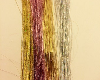 Permemant hair tinsel extensions lasts for weeks