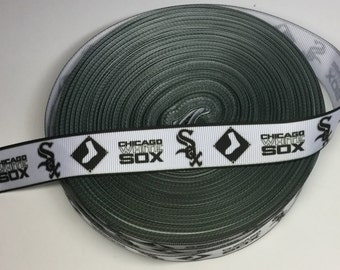 5 Yards of Chicago White Sox 7/8 grosgrain