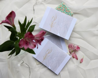 Stitched Drawing Note Card