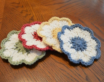 Country Flower Coasters