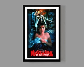 A Nightmare on Elm Street - Freddy Krueger Movie Poster Print - Horror Cult Classic Wes Craven
