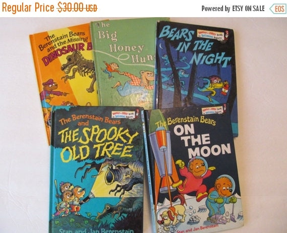Berenstain Bears Old Book Cover : Berenstain bear books vintage set of by cellardeals