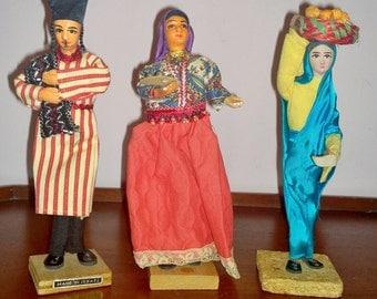3 Vintage Sabra Israeli Dolls