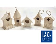 Unfinished Wood Small Birdhouses. Small Bare Wood Bird Houses. Plain Wood Bird Houses.