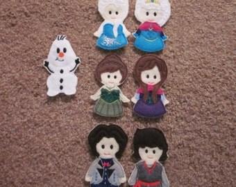 Frozen Finger Puppets Set