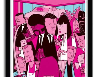 Affiche Pulp Fiction par Ale Giorgini