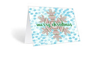 Snowflake Christmas card 12 pk