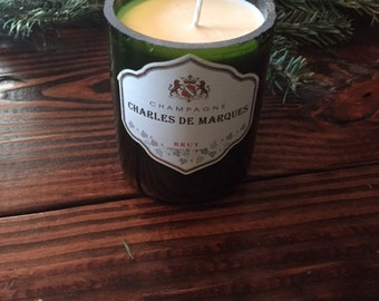 SALE Upcycled Wine Soy Candle