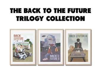 BACK to the FUTURE COLLECTION !!  Movie Prints set - Posters a3