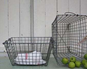 Oyster Basket, Wire Basket, Vintage Basket, Vintage, French Decor, Home Decor, Storage Basket, Oyster, French Farmhouse