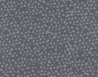 LAST 3/4 Yard Timeless Treasures Fun Tonal Triangles  Grey C3776